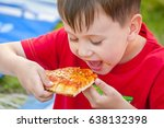 cute little caucasian kid... | Shutterstock . vector #638132398