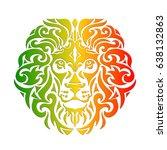 Rasta Theme With Lion Head On ...
