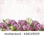 vintage white background with... | Shutterstock . vector #638135029