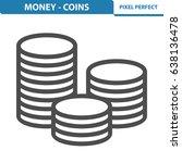 money   coins icon.... | Shutterstock .eps vector #638136478