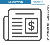newspaper icon. professional ... | Shutterstock .eps vector #638136493