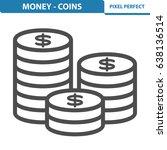 money   coins icon.... | Shutterstock .eps vector #638136514