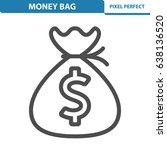 money bag icon. professional ... | Shutterstock .eps vector #638136520