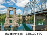 clutha river and the old... | Shutterstock . vector #638137690