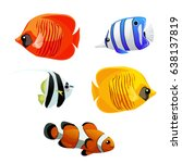 A Set Of Exotic Fish Isolated...