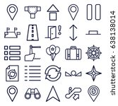 navigation icons set. set of 25 ... | Shutterstock .eps vector #638138014