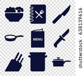 chef icons set. set of 9 chef... | Shutterstock .eps vector #638139616