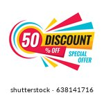 50  off discount   creative... | Shutterstock .eps vector #638141716