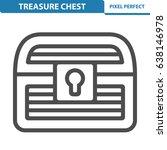 treasure chest icon.... | Shutterstock .eps vector #638146978