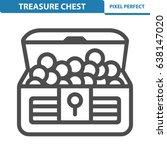 treasure chest icon.... | Shutterstock .eps vector #638147020
