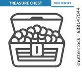 treasure chest icon.... | Shutterstock .eps vector #638147044