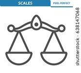 scales icon. professional ... | Shutterstock .eps vector #638147068