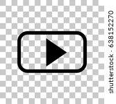 video play icon stock vector... | Shutterstock .eps vector #638152270