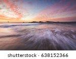 a beautiful sunset sky above a... | Shutterstock . vector #638152366