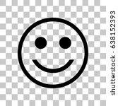 smile icon stock vector... | Shutterstock .eps vector #638152393