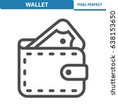 wallet icon. professional ... | Shutterstock .eps vector #638153650