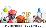 set of sport items isolated on... | Shutterstock . vector #638154586