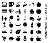 leaf icons set. set of 36 leaf... | Shutterstock .eps vector #638156110