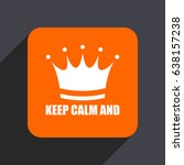 keep calm and orange flat... | Shutterstock . vector #638157238