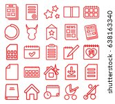 page icons set. set of 25 page... | Shutterstock .eps vector #638163340