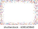 cover from rainbow confetti.... | Shutterstock .eps vector #638165860