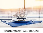 Miniature Sailing Ship Made Of...