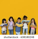 diverse group of kids study... | Shutterstock . vector #638180248