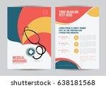 medical brochure flyer design... | Shutterstock .eps vector #638181568