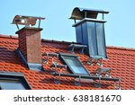 brick facing chimney and steel... | Shutterstock . vector #638181670