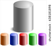 realistic colored cylinders on... | Shutterstock .eps vector #638181898