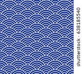 traditional japanese folk... | Shutterstock .eps vector #638185540