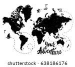 your adventure. drawing by hand ... | Shutterstock .eps vector #638186176