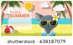 hello summer background with... | Shutterstock .eps vector #638187079