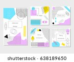 set of universal cards and... | Shutterstock .eps vector #638189650