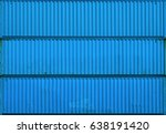 the blue blank surface texture... | Shutterstock . vector #638191420