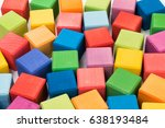 colorful wooden toy cubes...