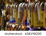 Close Up Of Love Locks In A Row