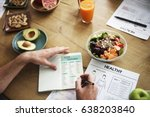 nutrition analysis paper | Shutterstock . vector #638203840