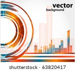 abstract urban city | Shutterstock .eps vector #63820417