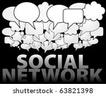 a cloud of social network media ... | Shutterstock .eps vector #63821398
