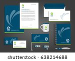 vector abstract stationery... | Shutterstock .eps vector #638214688