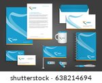 vector abstract stationery... | Shutterstock .eps vector #638214694