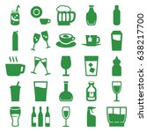 beverage icons set. set of 25...