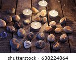 mystic still life with stone... | Shutterstock . vector #638224864