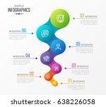 abstract vector infographic... | Shutterstock .eps vector #638226058