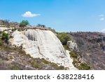 hierve el agua  natural rock... | Shutterstock . vector #638228416