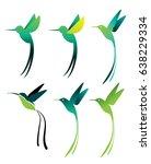 hummingbird | Shutterstock .eps vector #638229334