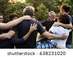 group of people support unity... | Shutterstock . vector #638231020