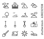 landscape icons set. set of 16... | Shutterstock .eps vector #638232538