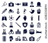 medical icons set. set of 36... | Shutterstock .eps vector #638233894